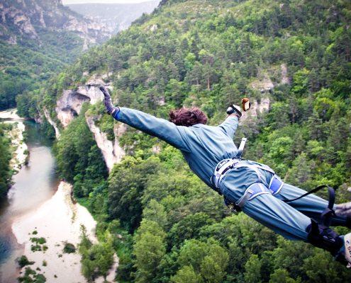 saut elastique 107 metres gorges tarn